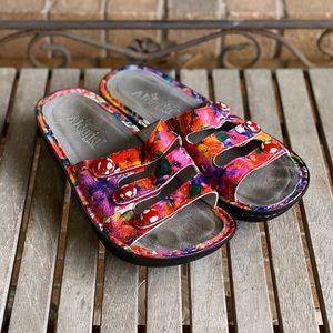 Alegria Fiona Iris Slip On Colorful Sandals